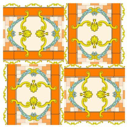 Roads of Barcelona - Orange - Face Mask