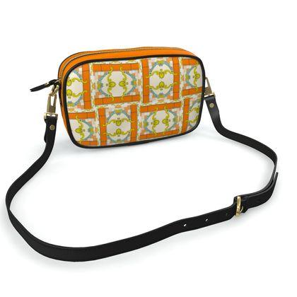 Roads Of Barcelona - Orange - Camera Bag