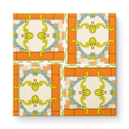 Roads Of Barcelona - Orange - Square Canvas Wholesale