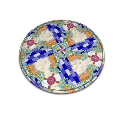 Roads of Barcelona - Oraue - Leather Coasters