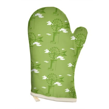OVEN GLOVES - Windmill Green