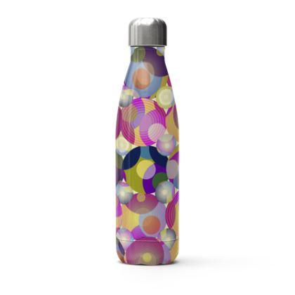 Moon Collection on cream Stainless Steel Thermal Bottle