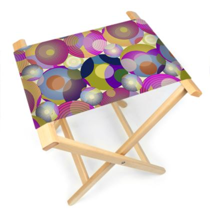 Moon Collection on cream Folding Stool Chair