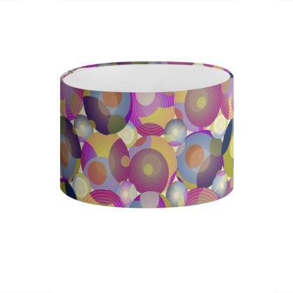 Moon Collection on cream Drum Lamp Shade