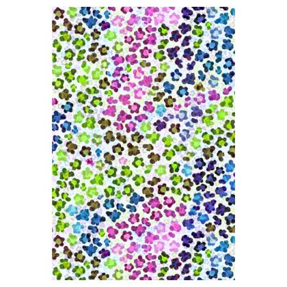 Leopard Skin Multicoloured Collection Luggage Tags