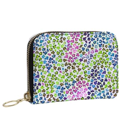 Leopard Skin Multicoloured Collection Small Leather Zip Purse