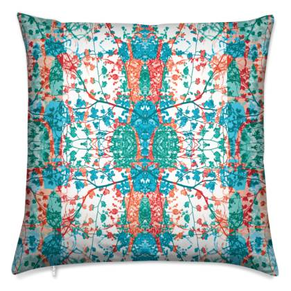 Multi Teal Luxury Cushion