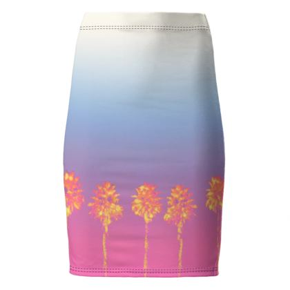 Palm Trees Collection Pencil Skirt