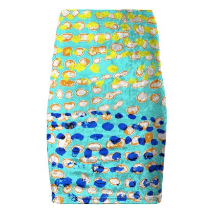 Textural Collection multicolored Pencil Skirt