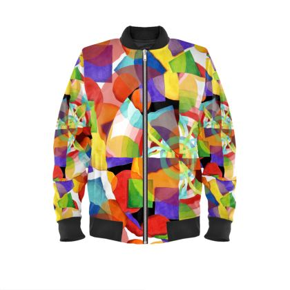Psychedelic Rave Ladies Bomber Jacket