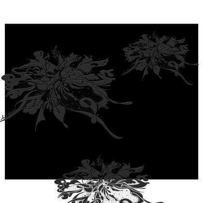 Kimono - Grey ink black