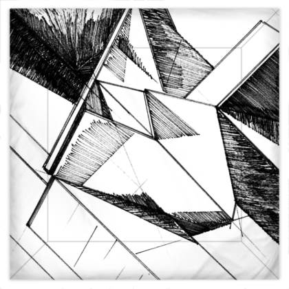 Architectural Sketch Duvet Covers