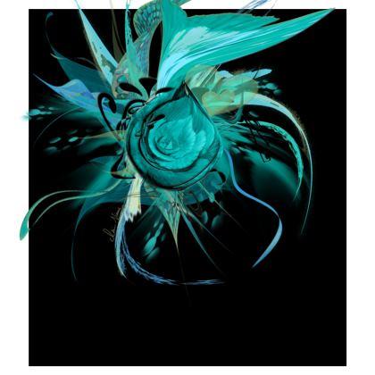 Skater dress - Skater Klänning - Turquoise black