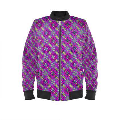 Mens Bomber Jacket Pattern Tile Purple