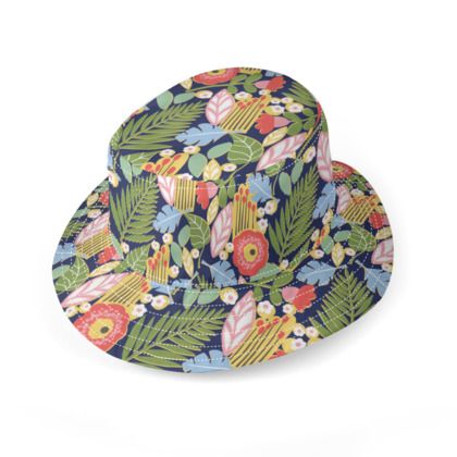 Paradise House Tropical Floral Bucket Hat