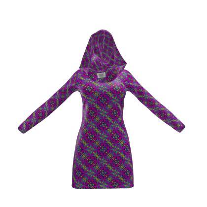 Hoody Dress Tile Purple