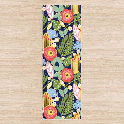 Paradise House Tropical Floral Yoga Mat