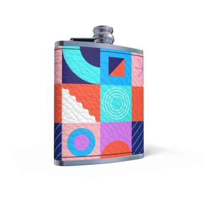 Leather Hip Flask - Simply Happy