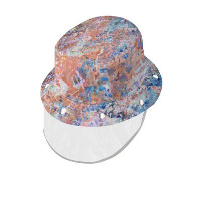 Bucket Hat With Visor Watercolor Texture 1
