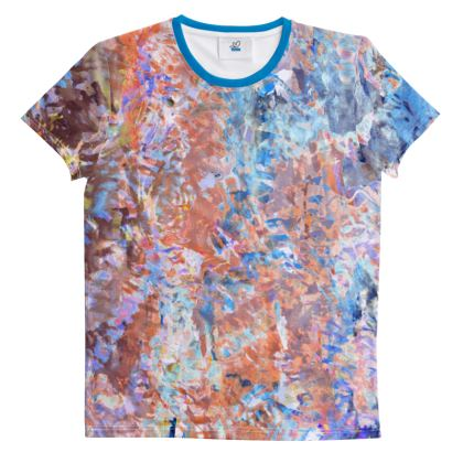 Cut And Sew All Over Print T Shirt  Watercolor Texture