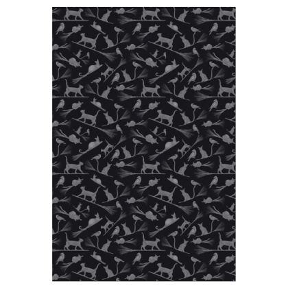 Socks: Black Cats on Broomsticks