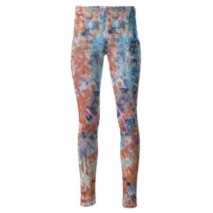 High Waisted Leggings Watercolor Texture