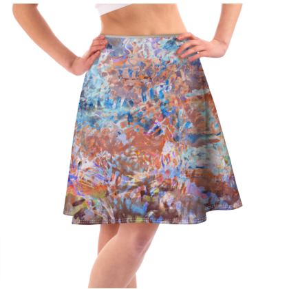 Flared Skirt Watercolor Texture 1