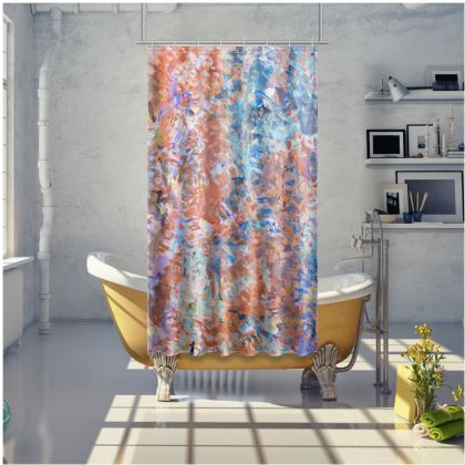 Shower Curtain Watercolor Texture