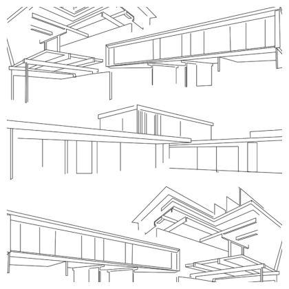 Mid-Century Modernist Houses cushion
