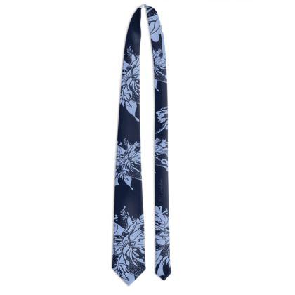 Tie - Slips - Light blue ink blue