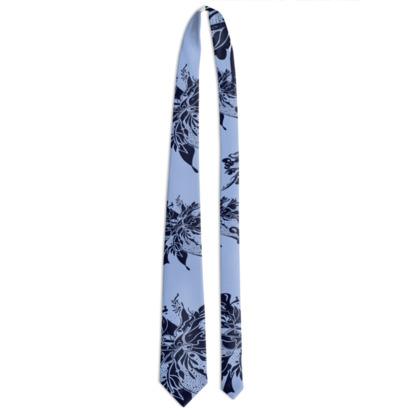 Tie - Slips - Blue ink on light blue