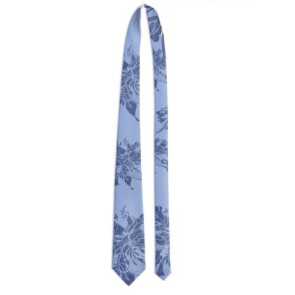 Tie - Slips - Middle blue ink on light blue