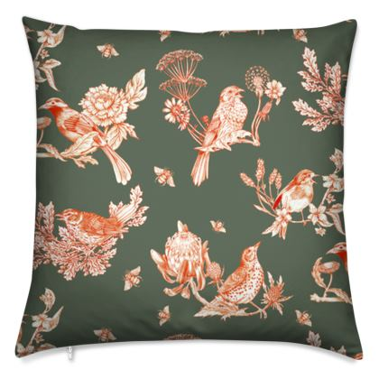 Chinoise Autumnal cushion cover