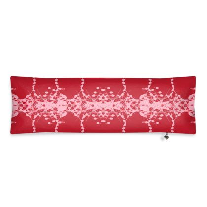 Red Teasel Bolster Cushion