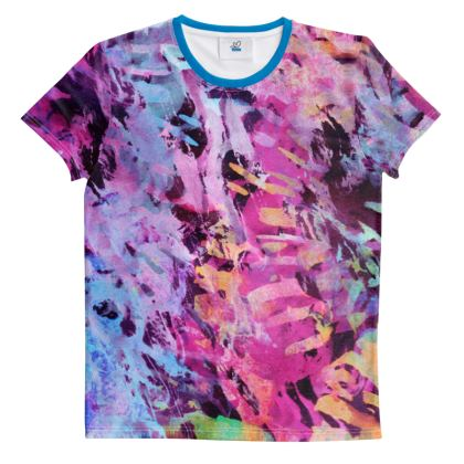 Cut And Sew All Over Print T Shirt Watercolor Texture 7