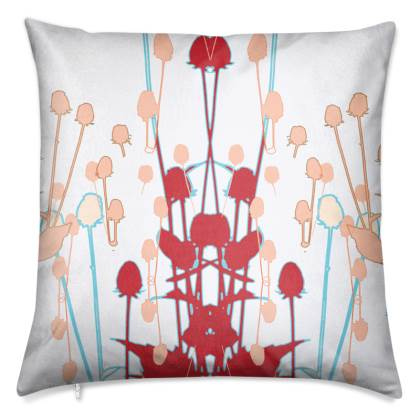 Red Teasel Luxury Cushion