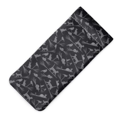 Glasses case: Cats on Broomsticks