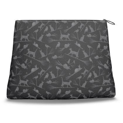 Clutch Bag: Cats on Broomsticks