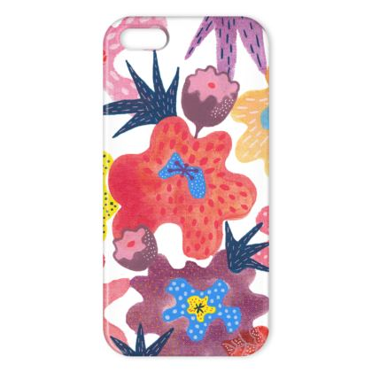 iPhone case Berrylicious hand painted abstract floral