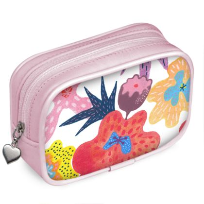 Pouch purse Berrylicious hand painted abstract floral