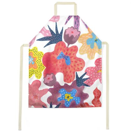 Apron Berrylicious hand painted floral abstract