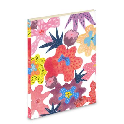 Pocket Note Book Berrylicious hand painted floral abstract