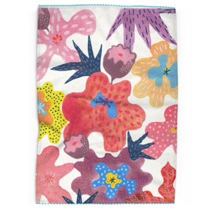 Tea Towels Berrylicious hand painted floral abstract