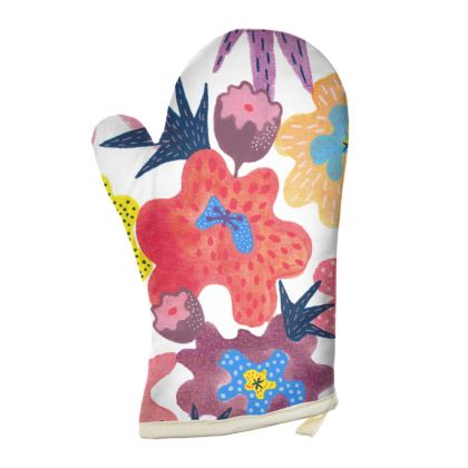 Oven Glove Berrylicious hand painted floral abstract