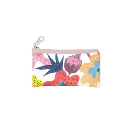 Zip Top Pouch Berrylicious hand painted abstract floral