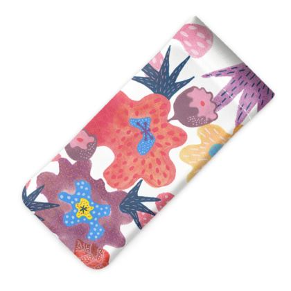 Glasses Case Pouch Berrylicious hand painted floral abstract