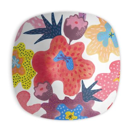 Ornamental bowl Berrylicious hand painted floral abstract