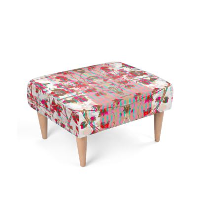 Crimson Branch Footstool