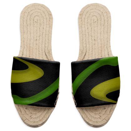 Sandal Espadrilles - Simple Colours (Black)