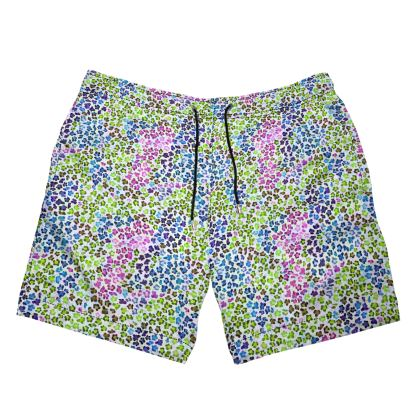 Leopard Skin Multicoloured Collection Mens Swimming Shorts
